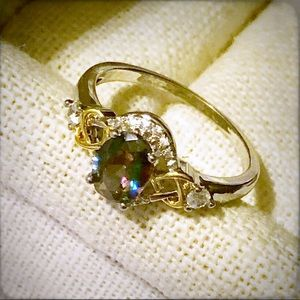 NEW Rainbow Fire Mystic Topaz Ring - Size 8 1/2